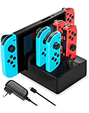 Switch Charger for Switch, YCCTEAM 5 in 1 Charging Dock for Switch Joypad and Console with AC Adapter Charger for Switch-5FT Cable