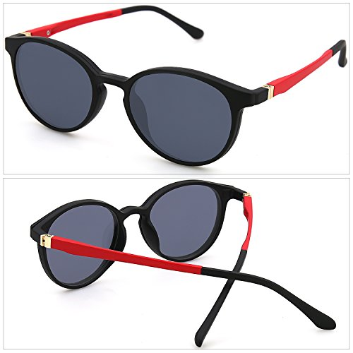 de pour 1 pour lunettes Black ZENOTTIC soleil lunettes magn¨¦tique lunettes polaris¨¦es cadre de ULTEM en hommes femmes lunettes sur Frame C1 de Clip Round Flexible prescription 2 EEqx0Hwz