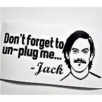 Jack Pearson Don't Forget To Unplug Me Black Vinyl Decal Instant Pot Crock Pot