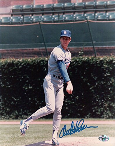 Orel Hershiser Signed 8X10 Photo Autograph LA Dodgers Wrigley Throwing Auto COA from Cardboard Legends Online