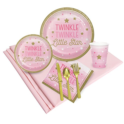 Twinkle Twinkle Little Star Pink 24 Guest Party Pack]()