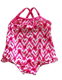 Infant Baby Girls Swimwear One Piece Heart Valentine's day Swimsuits