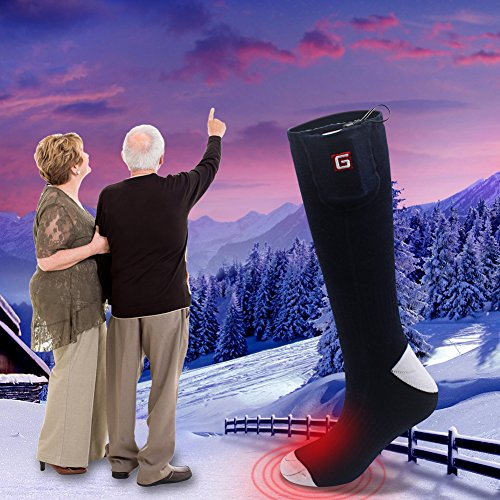 QILOVE Heated Socks Electric Rechargeable Battery Warming Sox Heated Hunting Socks