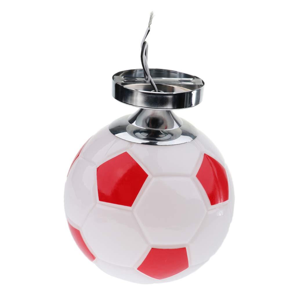 Sharplace Niños Dormitorio E27 Base Empotrada Fútbol Fútbol Lámpara De Techo - rojo