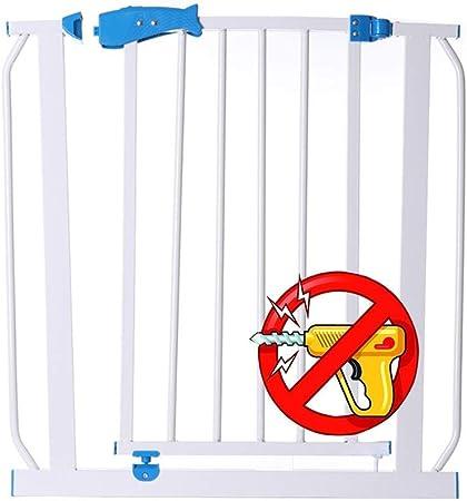 QIANDA Barrera Seguridad Niños Protector Escaleras Bebe Sin Agujeros Barra De Puerta for Niños Valla De Perro, Cierre Automático, Extra Ancho (Color : White, Size : 100-107cm): Amazon.es: Hogar