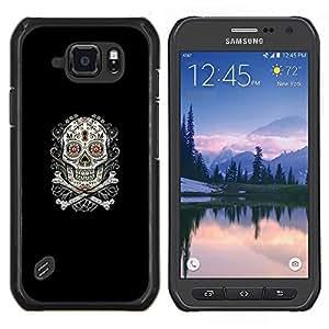 LECELL--Funda protectora / Cubierta / Piel For Samsung Galaxy S6Active Active G890A -- Azúcar Skull & Bones --