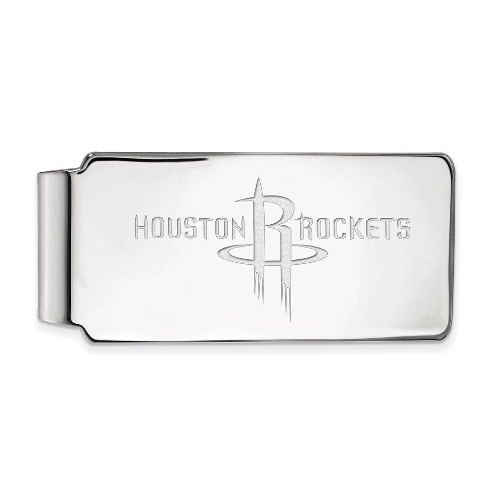 NBA Houston Rockets Money Clip in Rhodium Plated Sterling Silver by LogoArt