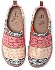 UIN Women's Lightweight Canvas Shoes,Gifts Blossom Art Painted Travel Walking Casual Spring Summer Flat