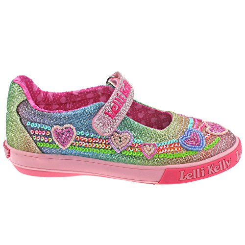 Lelli Glitter gx02 uk 23 Multi Dolly Hearts Kelly Adjustable Shoes 6 Rainbow Lk5072 rwFqZTrI