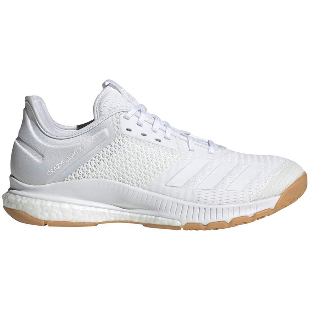 adidas Women's Crazyflight X 3 Volleyball Shoe, White/Gum, 8.5 M US by adidas