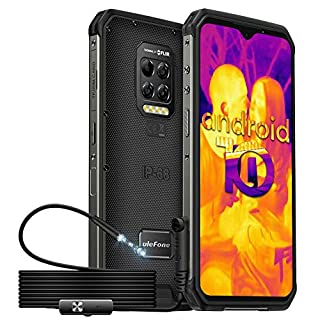 Rugged Smartphone, Ulefone Armor 9 with Endoscope, Thermal Imaging Camera, Endoscoped Supported, Helio P90 8GB + 128GB Android 10, 64MP Camera, 6600mAh, 6.3' FHD+ Screen, NFC, OTG, Fingerprint Face ID
