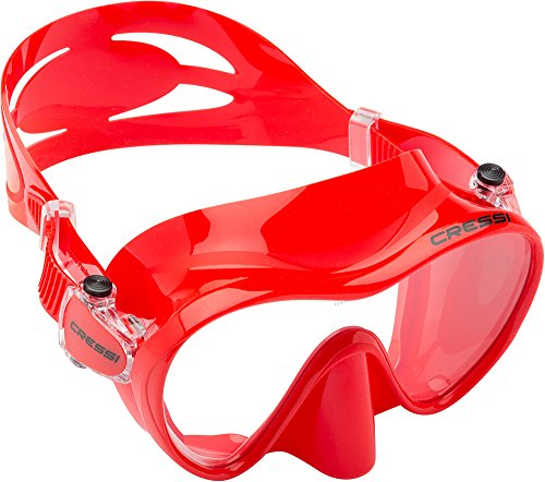 Cressi Scuba Diving Snorkeling Frameless Mask (Red)