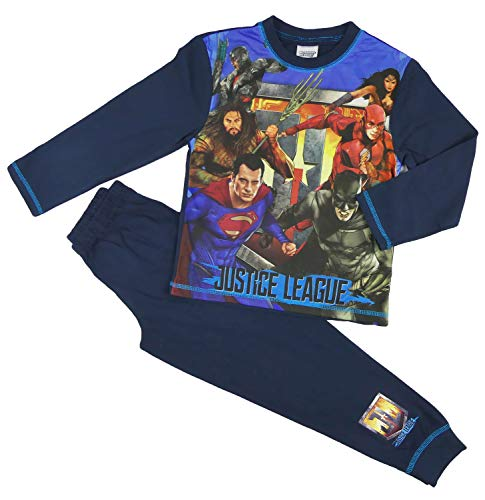 Boys Superhero Pyjama Set Comic Characters Marvel and DC Heroes 4-5 up to 9-1 Years (11-12 Years, Justice League)