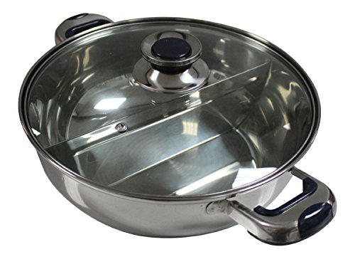 HCX 30 cm Shabu Shabu Dual Sided Hot Pot With Divider