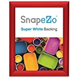 """Red Snap Frame 8 x 10 Inches, 1"""" Narrow Aluminum Profile, Front Loading Display, Wall Mount"""