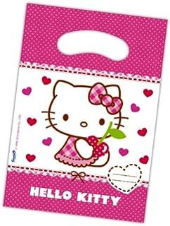 6 Partytüten HELLO KITTY HEARTS Mit Tragegriff Für Kindergeburtstag //  Kinder Geburtstag Karten Katzen Mädchen