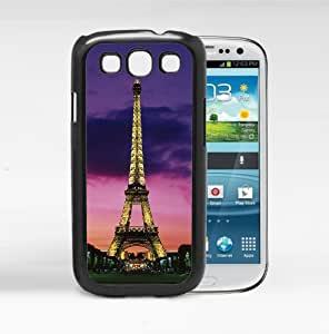 Beautiful Paris Eiffel Tower at Night Lights Rubber Silicone TPU Cell Phone Case Cover (SIII S3 I9300)