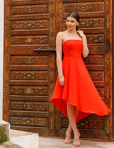 05979 Asmtrique Femme Ever Robe Cocktail C Orange Pretty Bustier de Courte wYYq8Ix