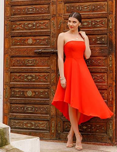 Courte C de Pretty Robe Ever Bustier Cocktail Femme Asmtrique Orange 05979 74Og1qwT