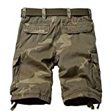 TRGPSG Men's Camo Multi-Pocket Relaxed Fit Casual