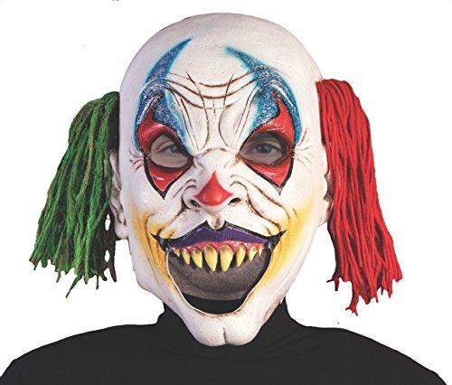 [Forum Novelties 79206 Deluxe Open Mouth Evil Clown Mask, Multicolor] (Deluxe Evil Clown Mask)