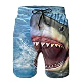 Shark Jumping Out Water Mens Solid Lightweight Shorts Quick Dry Bottom Half Pants Watershorts Drawstring for Man