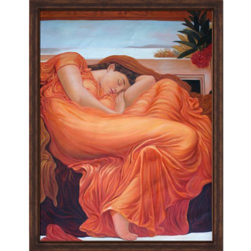 overstockArt LF3157-FR-BW22430430X40 Flaming June Framed Oil Reproduction of an Original Painting by Lord Frederic Leighton