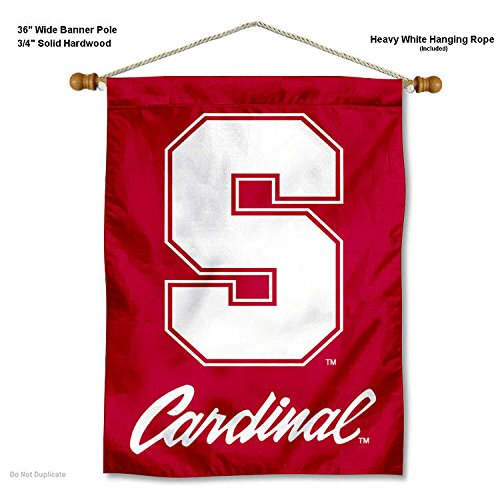 College Flags and Banners Co. Stanford Cardinal Banner with Hanging Pole