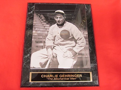 Tigers Charlie Gehringer Collector Plaque w/8x10 Vintage Photo