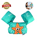 Swim Arm Bands Trainer Float Life Jacket Vest Learn Swimming Independence Fun Aid