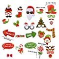 Tinksky Christmas Party Photo Booth Props Creative Happy Christmas Pose Sign Kit for Party Decoration 32pcs/set from Tinksky