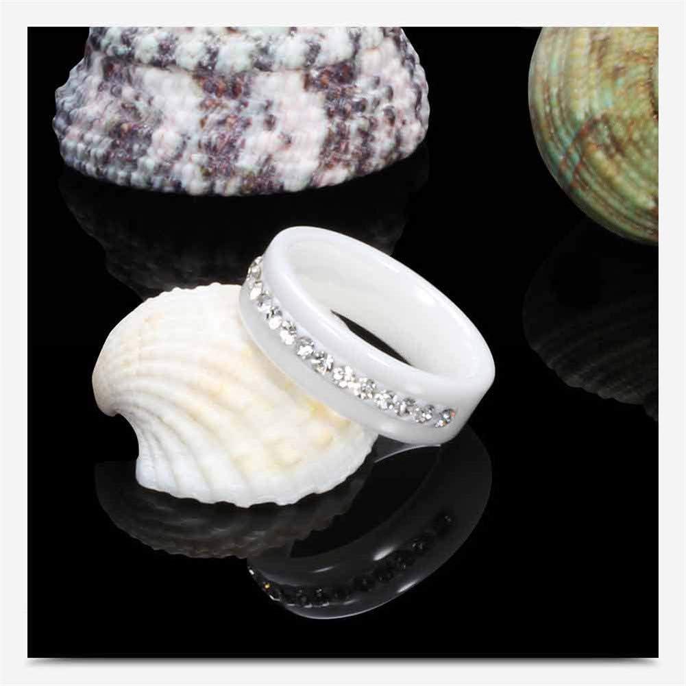 Schwarz Wei/ß Aruie Ring aus Keramik mit Mehreren Zirkonia besetzt mit Rail Ehering Herren Damen Schmuck