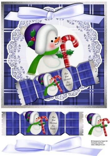 Hope Your Christmas is a Cracker Baby Snowman by Dawn Hill