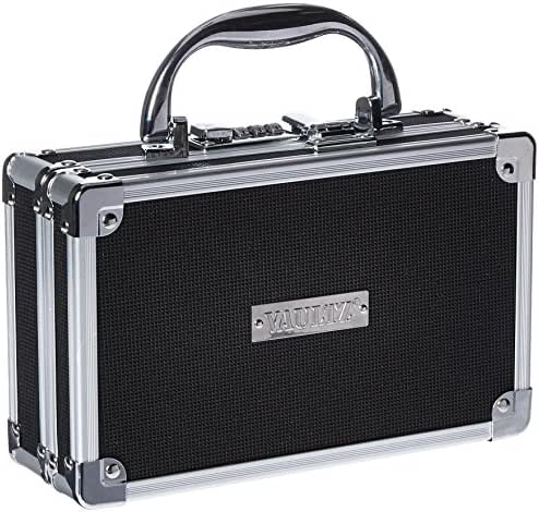 Vaultz Medicine Case with Combination Lock, 8.25 x 5 x 2.5 Inches, Black  (VZ00361)