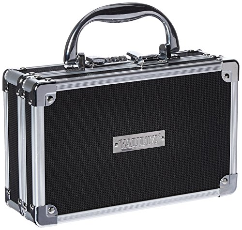 Vaultz Medicine Case with Combination Lock, 8.25 x 5 x 2.5 Inches, Black  (VZ00361) Locking Box