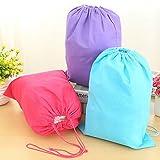 Travel Shoe Packing Bags; Large Soft Drawstring