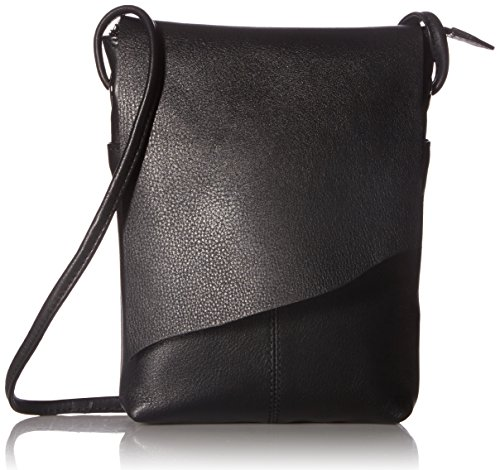 Leather Mini Sac Flap Cross-body Handbag,One Size,Black