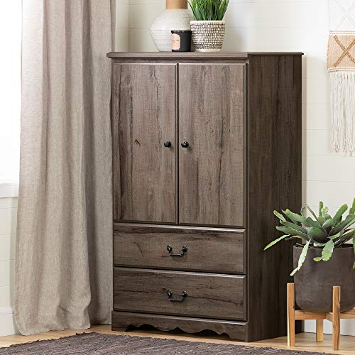 South Shore 11920 Prairie Armoire, Fall - Country Armoire Oak