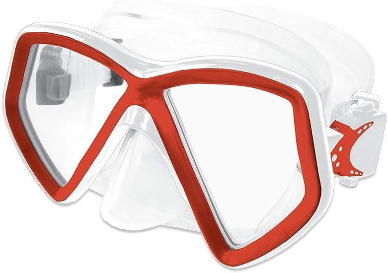 Scuba Black//Red Dive Mask FARSIGHTED Prescription RX Optical Full Lenses