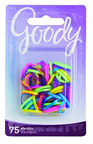 Goody Mini Latex Hair Elastics, Assorted Neon Colors, (Mini Elastic)