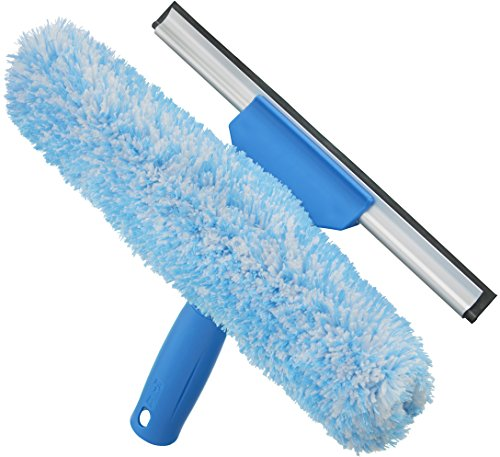 (Unger Professional Microfiber Window Combi: 2-in-1 Squeegee and Window Scrubber, 10