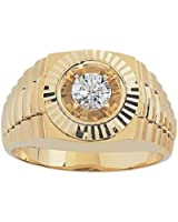 14k Yellow Gold 1/2ct Diamond Solitaire Ring.
