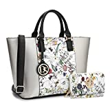 MMK collection Women Fashion Matching Satchel/ Tote handbags with walle(6417)t~Designer Purse with Wristlet Wallet(12-6417W-SL/FL)