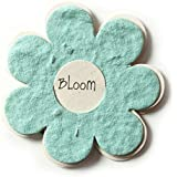 Bloomin Mini Powder Blue Flower-Shaped Seed Paper Enclosure Cards 9 Card Set - Perfect for Valentine's Day, Mother's Day and Wedding Anniversaries! Size: 2.25 x 2.25""