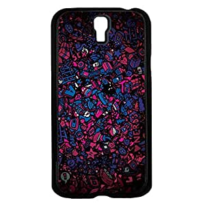 Colorful Purple and Blue Nerd Collage Hard Snap on Phone Case (Galaxy s4 IV)