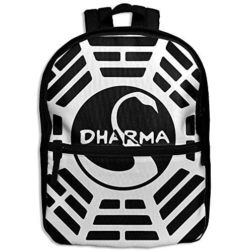 WOXIANJIN Children Zipper Bag Dharma Swan Kids Backpack Boys Girls Full Print School Backpack & Laptop - Zipper Dharma Von