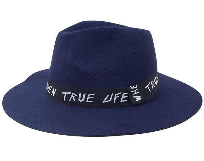 7b2999ec22b39 Sombreros Sombrero De Campana Señoras Invierno Elegante Otoño De Modernas  Casual ala Ancha Sombrero De Fieltro