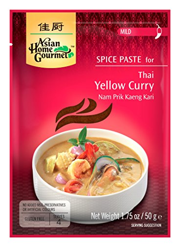 ASIAN HOME GOURMET Spice Paste for Thai Green Curry - Kang Kiew Wan. 1.75 oz (Pack of 3)
