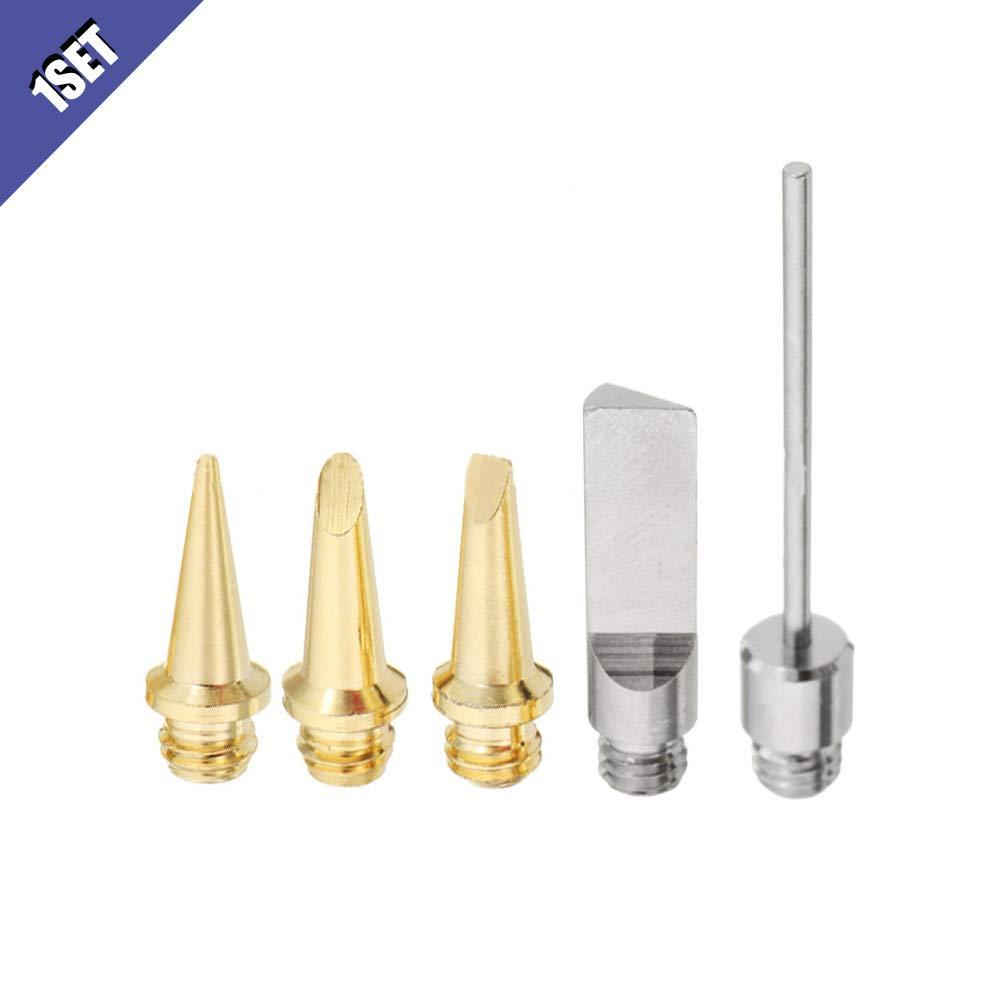 Ximimark 5Pcs/Set HS-1115K 10in1 Butane Gas Soldering Iron Kit Nozzle Welding Tools Gas Welding Tips Torch Pen Tools