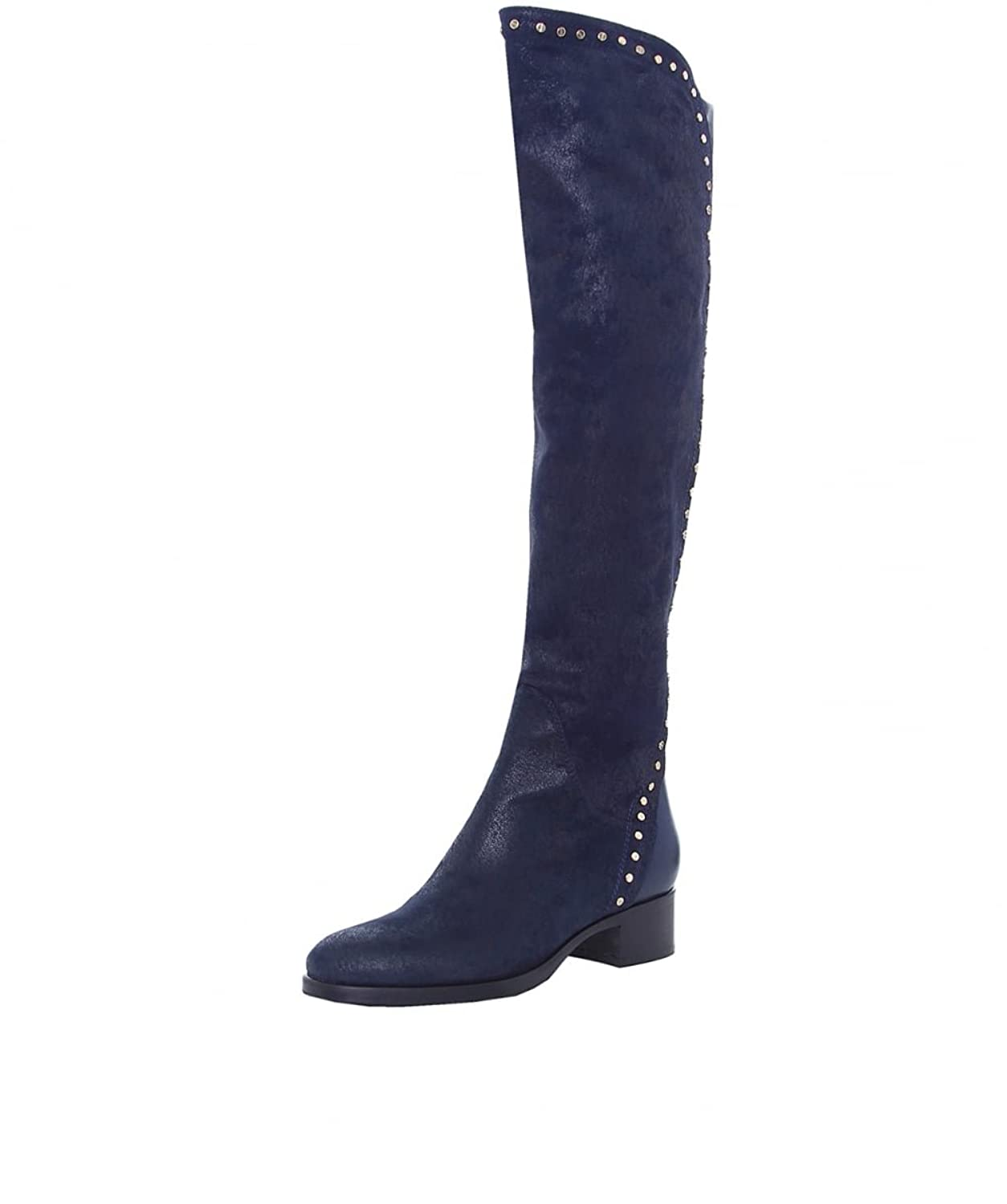 Le Pepe Women's Studded Suede Boots Oceano
